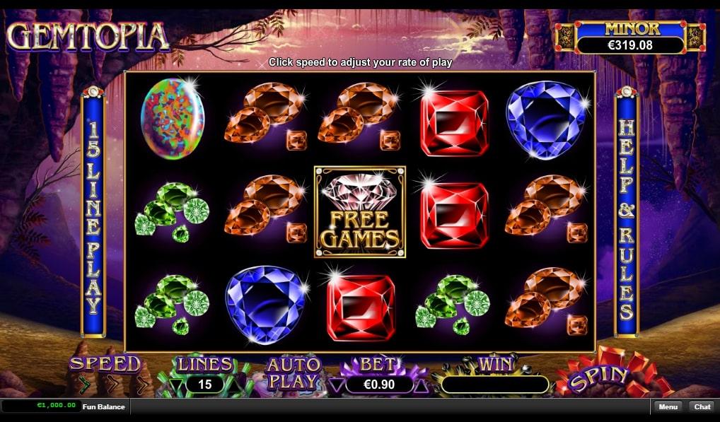 Gemtopia Slot Machine game app win real money