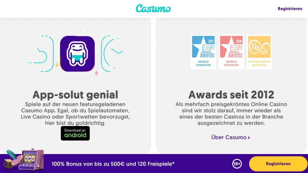 casumo casino application