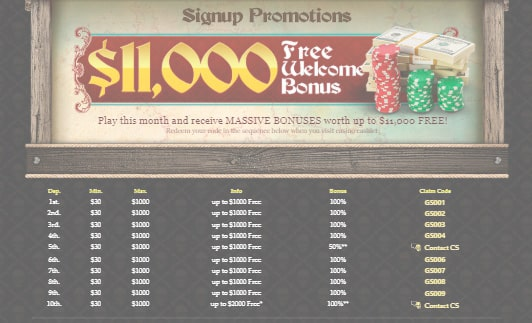 Captain Jack Casino sign up bonus