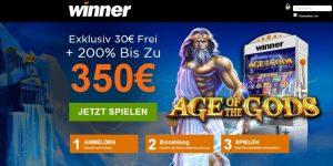 Winner casino 30€ ohne Einzahlung Bonus